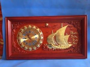 tranh đồng hồ thuận buồm xuôi gió