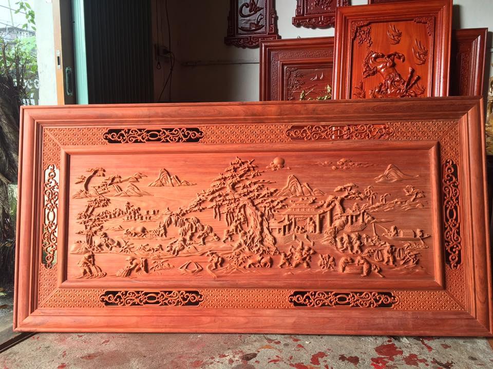 Tranh gỗ Đồng Quê phong thủy đẹp