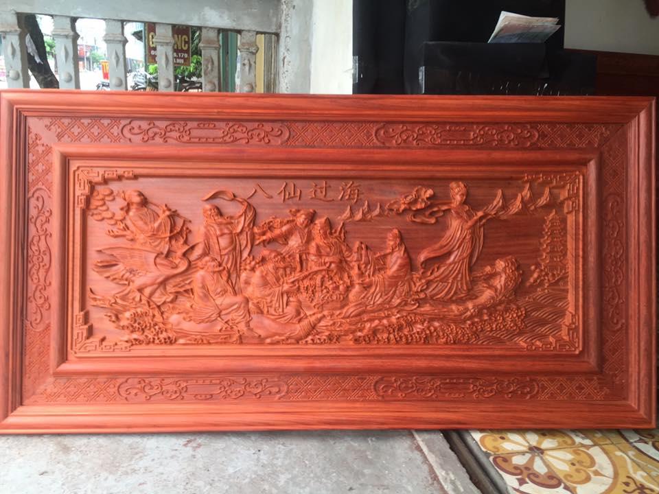 tranh gỗ bát tiên