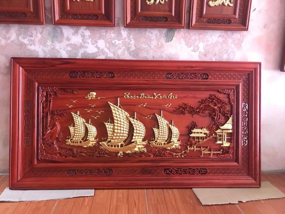 Tranh thuận buồm xuôi gió gỗ Hương
