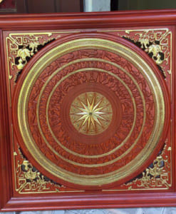 tranh gỗ trống đồng